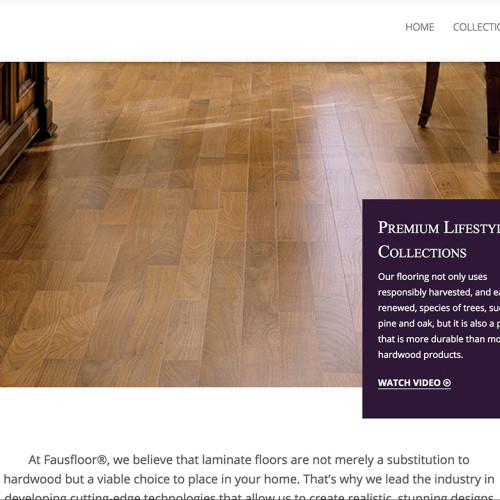 Faus Floor Web Design