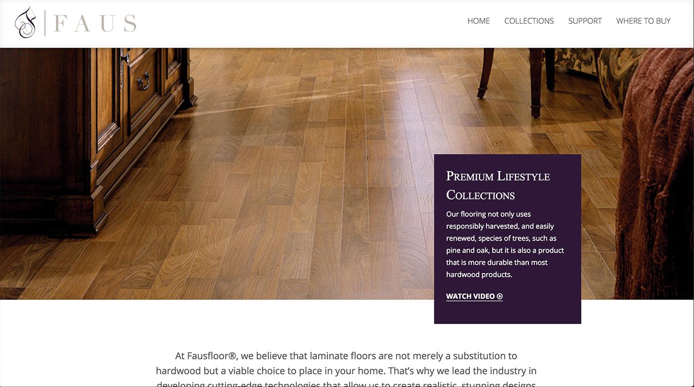 Faus Floor Web Design