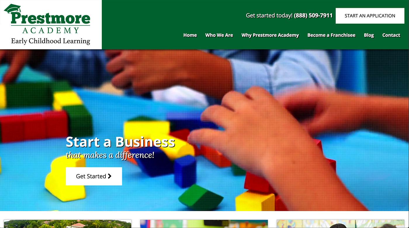 prestmore academy web design