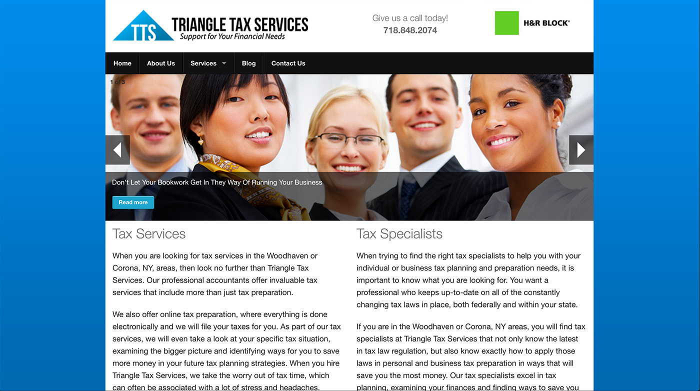 triangletax web design