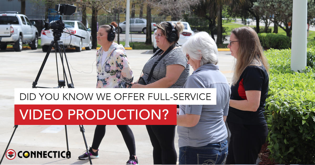 Did You Know We Offer Full-Service Video Production?